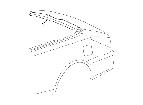 BODY/EXTERIOR TRIM - REAR BODY for 2007 Toyota Solara #1