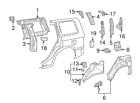 Lower Extension - Toyota (61601-48010)