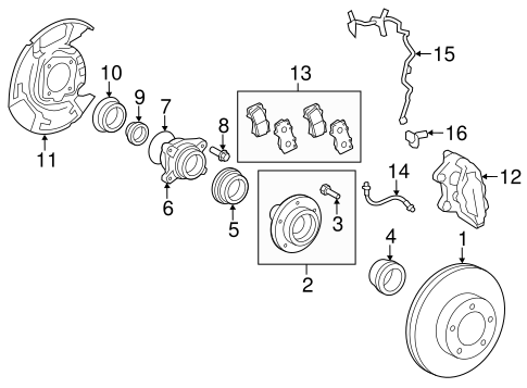 BRAKES/BRAKE COMPONENTS for 2015 Toyota Tundra #2