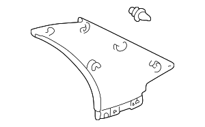 Upper Quarter Trim - Toyota (62470-52040-A0)