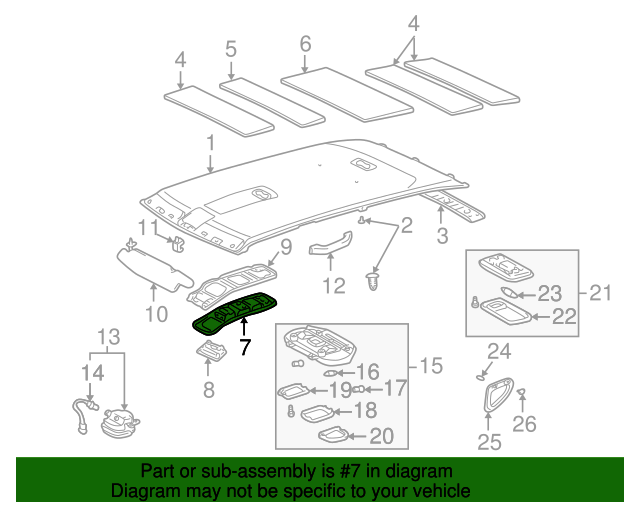 Roof Console - Toyota (63605-60011-A1)