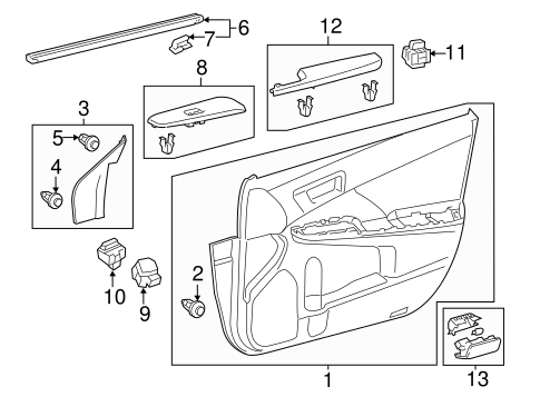 Door Trim Panel - Toyota (67610-06K80-A1)