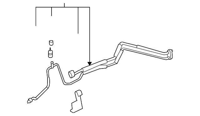 evaporator tube for 2007 cadillac dts