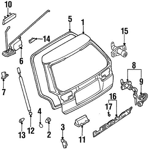 1999 subaru outback wagon lift gate diagram trunk for    1999       subaru    legacy  trunk for    1999       subaru    legacy