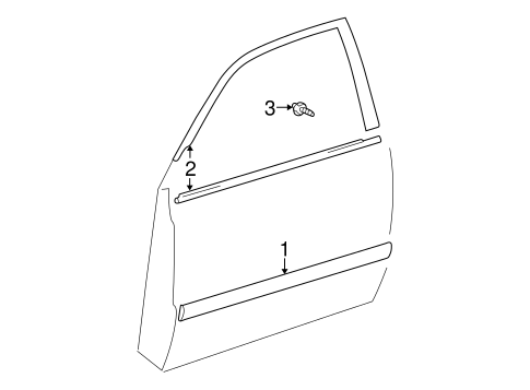 BODY/EXTERIOR TRIM - FRONT DOOR for 2004 Toyota Highlander #1
