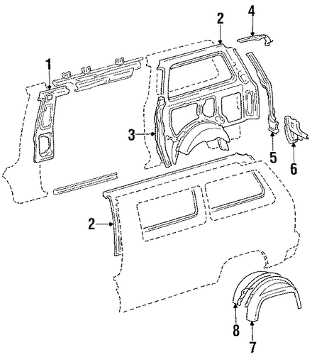 Rear Extension - Toyota (61626-87002)