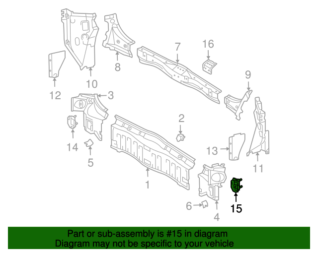 Reinforcement - Toyota (58304-08010)