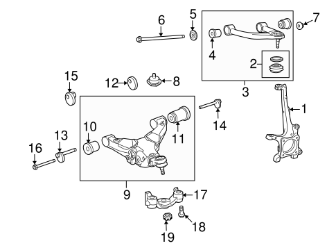 FRONT SUSPENSION/SUSPENSION COMPONENTS for 2011 Toyota Sequoia #3