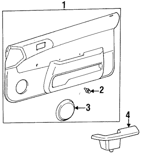 BODY/INTERIOR TRIM - FRONT DOOR for 1996 Toyota Tercel #1