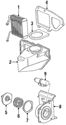 evaporator components for 1996 ford aerostar