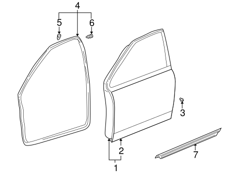 BODY/DOOR & COMPONENTS for 2001 Toyota Prius #1