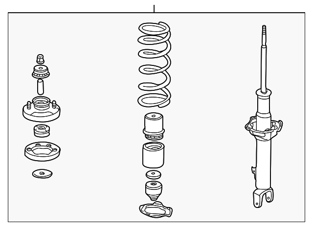 OEM Honda 51601-S2A-A06 - Shock Absorber Assembly, R Front