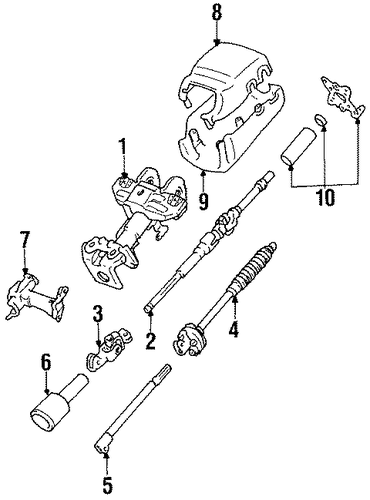 genuine oem steering column components parts for 1991