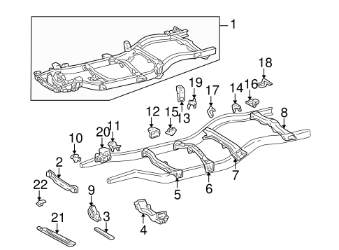 BODY/FRAME & COMPONENTS for 1996 Toyota Tacoma #1