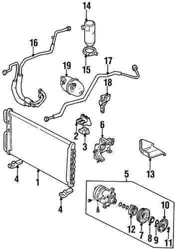 condenser  compressor  u0026 lines for 1999 buick lesabre  custom