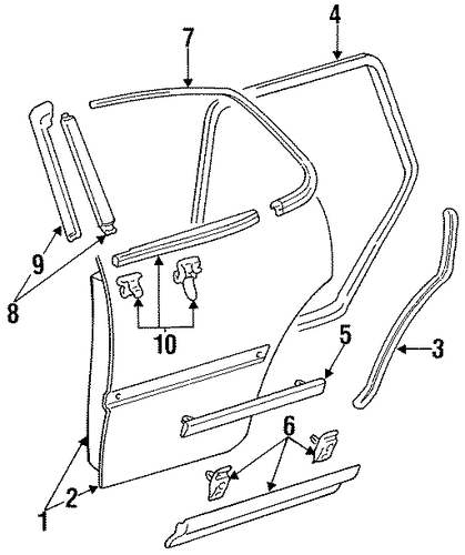 Door Shell - Toyota (67003-06011)