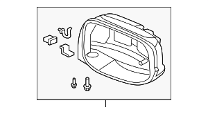 OEM Honda 76205-TF0-E11 - Housing Set, R