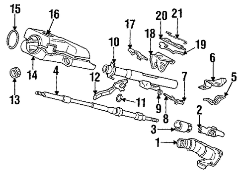1990 Honda CIVIC SEDAN DX Shaft, Steering - (53310SH3A01)