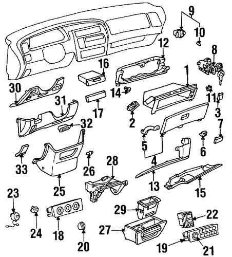 Glove Box - Toyota (55581-AC010)