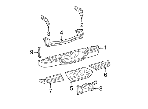 BODY/BUMPER & COMPONENTS - REAR for 2001 Toyota Tundra #1