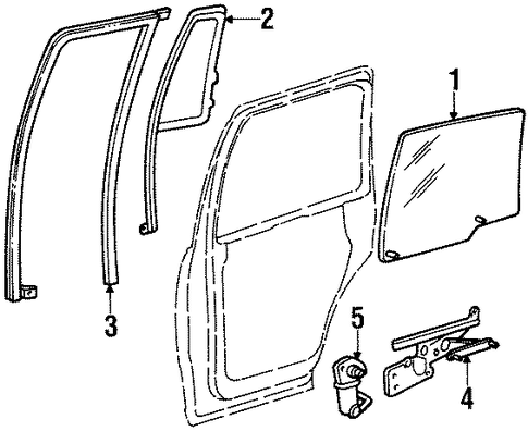 Rear door for 2000 lincoln navigator ford parts for 2000 ford expedition window off track