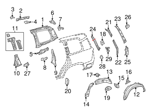 BODY/INNER STRUCTURE for 2015 Toyota Land Cruiser #2