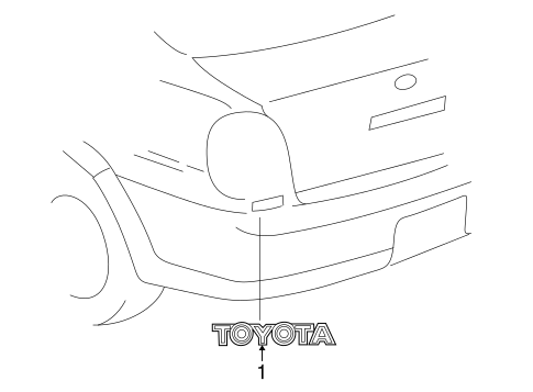 BODY/EXTERIOR TRIM - REAR BODY for 2000 Toyota Echo #1