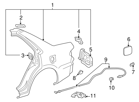 BODY/QUARTER PANEL & COMPONENTS for 1998 Toyota Corolla #1