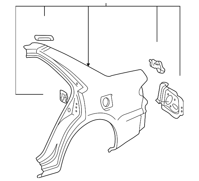 Quarter Panel - Toyota (61602-02907)