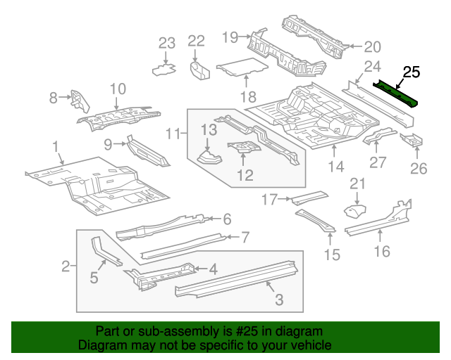 Rear Cross-Member Reinforcement - Toyota (57688-04080)