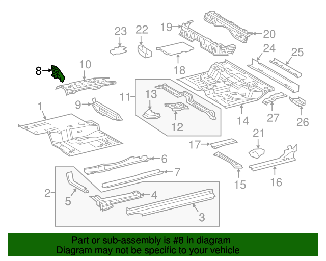 Foot Rest - Toyota (58190-04030)