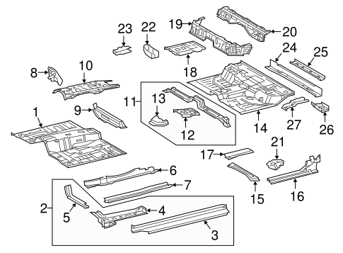 Foot Rest - Toyota (58190-04040)