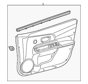 Door Trim Panel - Toyota (67610-5CM10-B0)