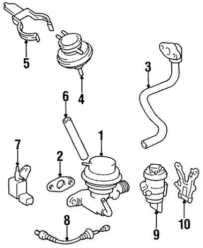EMISSION SYSTEM/EMISSION COMPONENTS for 1996 Toyota Tercel #1