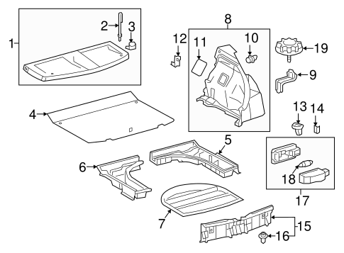 Package Tray - Toyota (64330-12A20-C0)