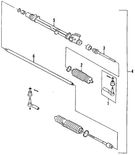 steering gear  u0026 linkage for 1988 pontiac fiero