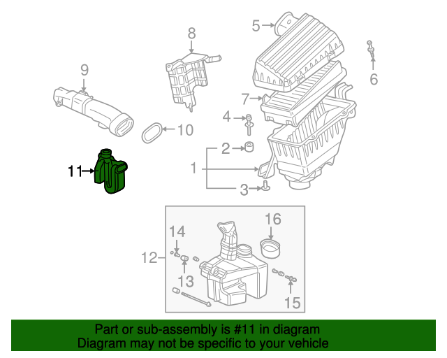 1999 Honda ACCORD SEDAN EXV6 TUBE, SIDE BRANCH - (17251P8CA00)