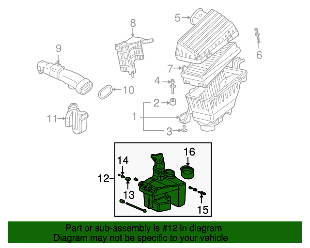 1999 Honda ACCORD SEDAN EXV6 TUBE, AIR IN. - (17230P8CA00)