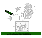 1999 Honda ACCORD SEDAN EXV6 TUBE, AIR FLOW - (17228P8AA01)