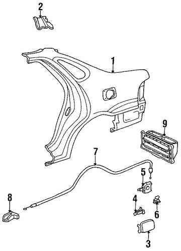 BODY/TRUNK for 1998 Toyota Avalon #1