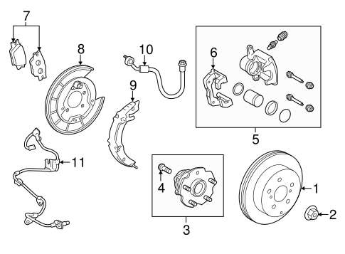 BRAKES/REAR BRAKES for 2014 Toyota RAV4 #2