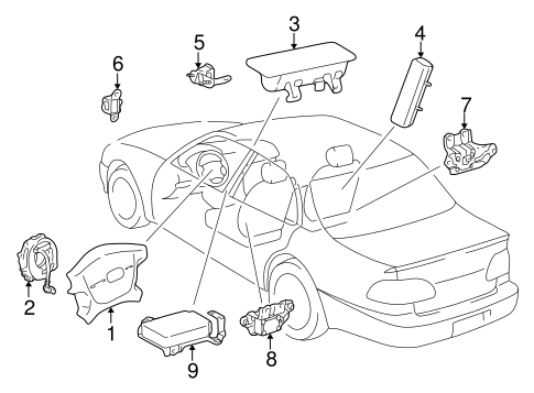 ELECTRICAL/AIR BAG COMPONENTS for 2000 Toyota Corolla #1