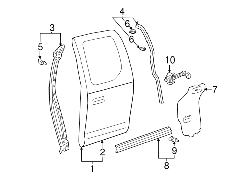 BODY/DOOR & COMPONENTS for 2001 Toyota Tundra #2