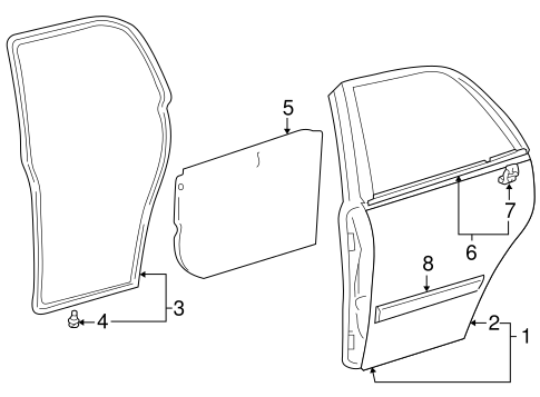 BODY/DOOR & COMPONENTS for 2001 Toyota Corolla #2