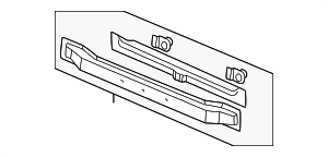 OEM Honda 04603-S10-G10ZZ - Lower Tie Bar