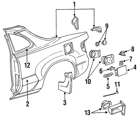 Rear Duct - Toyota (61567-20030)