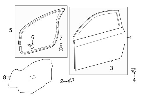 BODY/DOOR & COMPONENTS for 2015 Scion iQ #1