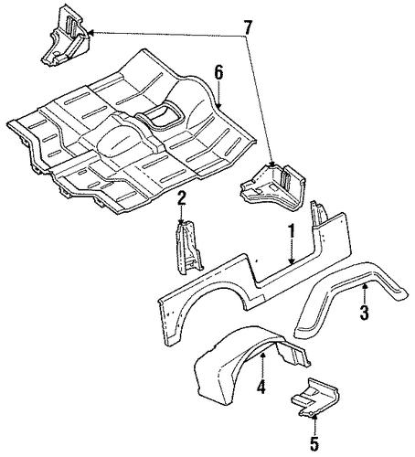 floor for 1989 jeep wrangler