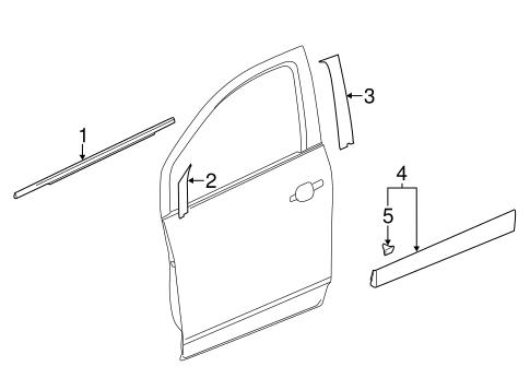 oem exterior trim front door for 2016 chevrolet trax. Black Bedroom Furniture Sets. Home Design Ideas
