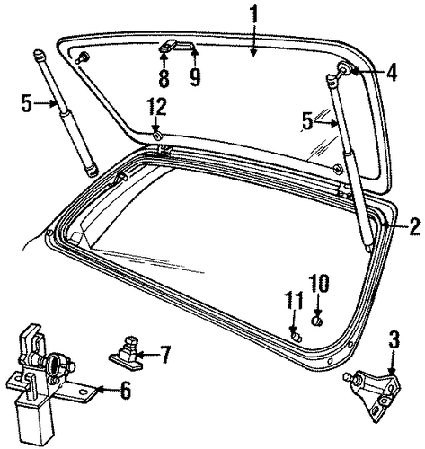 jeep grand cherokee liftgate parts